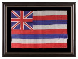 Image Of Hawaiian Flag Jeff Bridgman Antique Flags And Painted Furniture Hawaiian