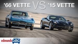 corvette the years chevrolet corvette stingray 1966 vs 2015 a comparison 50 years