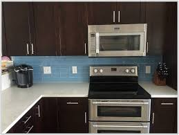 blue glass subway tile kitchen backsplash tiles home
