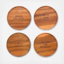 wooden drink coaster all in good taste wood coaster set of 4 zola