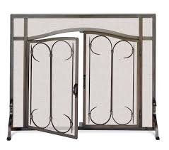 ornamental fireplace screens with doors home fireplaces firepits