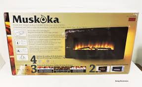 muskoka curved wall mount electric fireplace heater 1049041 42