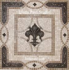 kitchen backsplash metal medallions kitchen fleur de lis backsplash tile mosaic medallion mosaics