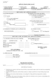 sample medical application form medical leave application form 8
