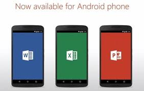 word app for android microsoft word excel and powerpoint now come as separate android