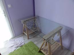 table bureau verre table bureau verre tréteaux clasf