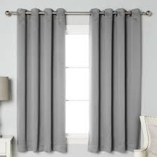 Gray And White Blackout Curtains Best Home Fashion Inc Solid Blackout Thermal Grommet Curtain
