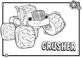 monster trucks for kids blaze and the monster machines coloring pages