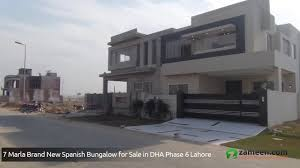 7 marla brand new spanish bungalow with basement to sale in dha
