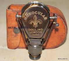 victorian nautical brass binocular folding monocular vintage
