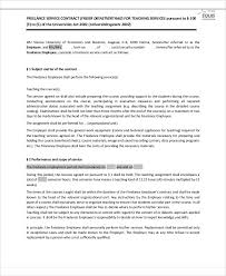freelance contract templates 7 free word pdf format download