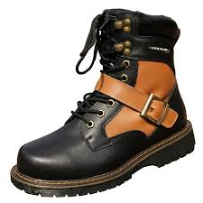 fashion casual shoes leather motorcycle boots men martin boots
