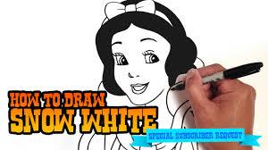 draw snow white step step video