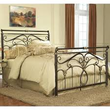 metal headboard queen size bed frame brackets footboard and in