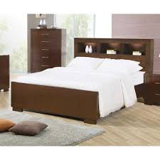 headboard with built in bedside tables king contemporary bed with inspirations and incredible headboard