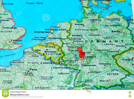 Germany Map Europe by Frankfurt Germany Pinned On A Map Of Europe Stock Photo Image