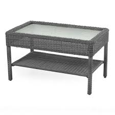 goods for life presidio patio wicker coffee table
