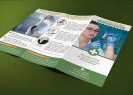 pharmacy brochure template free brochure template blood test lab on behance