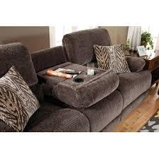 Chenille Reclining Sofa by Esofastore Living Room 3pc Sofa Set Chenille Fabric Sofa W Center