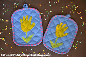 handprint potholder mother u0027s day gift idea glued to my crafts