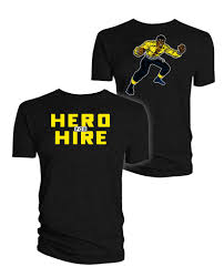 Marvel Super Heroes Clothing Luke Cage T Shirt Hero For Hire Forbiddenplanet Com Uk And