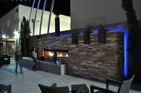 custom outdoor linear gas fireplace by acucraft acucraft fireplaces