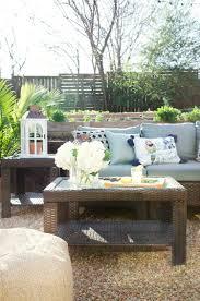 backyard entertaining space in blue