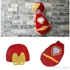 Baby Boy Photo Props 2017 Crochet Iron Man Newborn Baby Photo Props Knitted Baby Boy