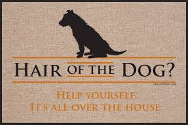 hair of the dog doormat funny doormats u2013 high cotton inc