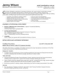 Sample Resume For Marketing Coordinator Sample Resume Of Marketing Communication Manager Online Writing Lab