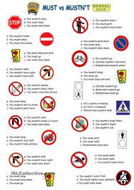 with traffic rules esl worksheets cosas para ponerme