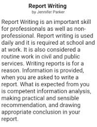 how to write a report android apps on google play