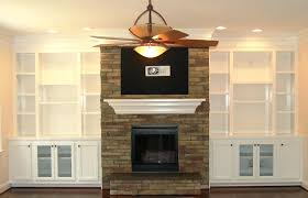 fireplace fascinating built in fireplace bookshelves for home