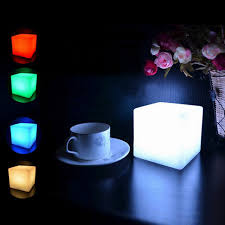 glow lights led colorful changing mood cubes glow l light gadget
