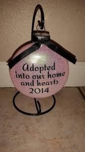 personalized ornament adoption ornament 1st