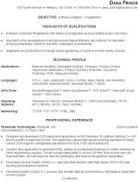 Sample Resume For Someone In by Sample Resume For Someone Seeking A Job As A Software Engineer