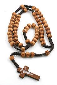 olive wood rosary olive wood rosary on cord iconeum llc