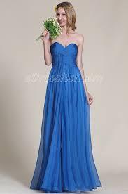 strapless sweetheart blue bridesmaid dress edressit
