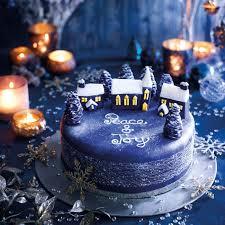 christmas cake decoration ideas silent night cake good housekeeping