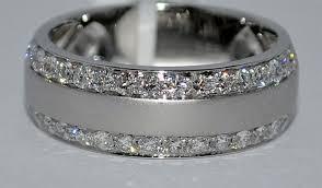 Mens Gold Diamond Wedding Rings by Home Diamond Mens Wedding Band Ring Solid White Gold Diy Wedding