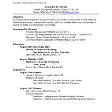 Nursing Resume Examples New Graduates by Nursing Resume Examples For New Grads