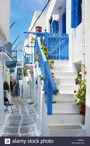 Painted Houses White Painted Houses In Mykonos Town Chora Mykonos Island
