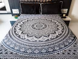 Beach Bedspread Amazon Com Indie Pop Mandala Tapestry Bedding With Pillow Covers