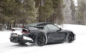 porsche 911 snow porsche also prepping all new 911 cabrio for 2019 reveal