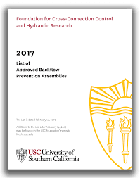 usc foundation for cross connection control and hydraulic research