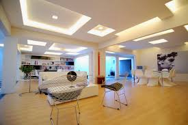 Home Interior Led Lights Interior Artistic Modern Living Room Decoration Using White