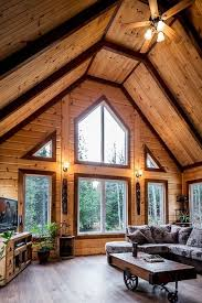 log home interior walls using different stain colors on your log home interior walls looks