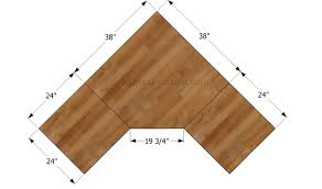 hey ana diy corner desk plans one and 1 4 sheet plywood corner