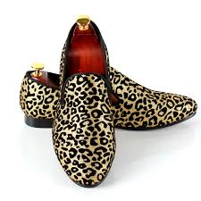 wedding shoes bottoms leopard printed men dress shoes slip on wedding shoes for events