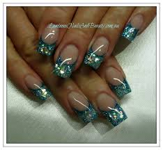 blue glitter acrylic nail designs acrylic nails gel nails